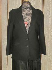 Size 12 JONES of NEW YORK 100% Pure Wool BLACK BLAZER/Jacket~Excl