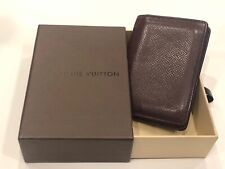 LOUIS VUITTON Men's Credit Card Case in Taiga Leather