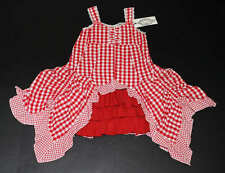 NWT Pom Pom Boutique Ilonka Bustle Hankerchief Red Gingham Girls Red Dress 116 6