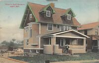 A82/ Gary Indiana In Postcard c1910 Walter S. Ross Residence Home