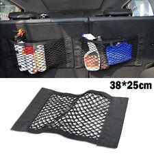 Magic Tape Car Back Seat Rear Trunk Cargo Net Organizer Storage Pocket Bag Mesh