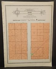 Illinois Christian County Map South North Half King Township c1930 W20#16