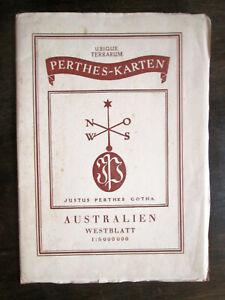 Vintage folding map. AUSTRALIA. WESTERN AUSTRALIA. 1942