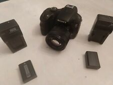 Sony A3000 20.1MP Camera w/lens, 2 batteries, 2 chargers