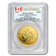 2007 Canada 1 oz Gold Maple Leaf .99999 MS-69 PCGS (FS) - SKU #28904