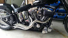 "2 1/2"" DIA STEPPED PERFORMANCE CUSTOM DRAG PIPES W POINTED ENDS  4 HARLEY"
