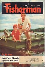 The Fisherman June 1955 Salt-Water Plugging, Plywood For Boats w/ML 042817nonDBE