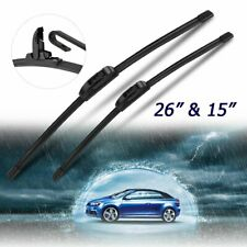 """26""""&15"""" Windshield Wiper Blades J-HOOK Fit For Chevrolet Sonic Lincoln MKC"""