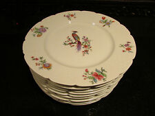 10 Signed Haviland Limoges France 7.5in Plates Peacock Birds RARE Old Gorgeous