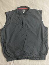 FOOTJOY FJ Logo Sleeveless Black Wind Shirt Golf Men's Size 2XL