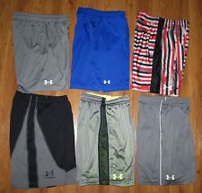 Lot 6 Boys UNDER ARMOUR Loose Ultimate Zinger Athletic Shorts YMD Medium 10/12
