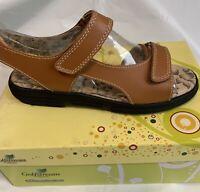 Golfstream Womens Golf Sandals #2016R Camel 7M