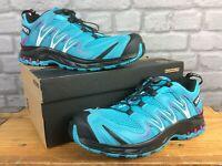 SALOMON LADIES XA PRO 3D BLUE PURPLE TRAIL RUNNING SHOES RRP £100 VARIOUS SIZES