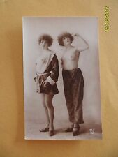 Original French 1910's-30's RPPC Nude Risque Lady Twin Beauties or Lesbians #5