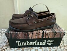 Leather Timberland Mens Boat Deck Shoes Size Uk8