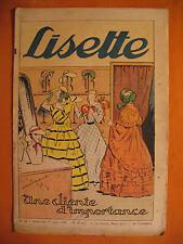 LISETTE N° 34 du 21/08/1938 -18 ème année -éditions de Montsouris