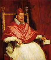 Nice Oil painting Diego Velazquez - Male portrait Leader of Cardinal seated