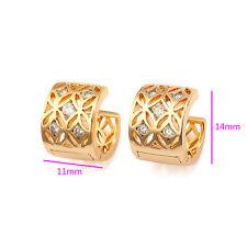 18k ct Gold Filled Luxury Hoop with zircon stone  Earrings