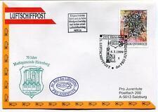 1999 Luftschiffpost n. 21 Pro Juvent. Dirigibile OE-ZHY Marktgemeinde Hirtenberg