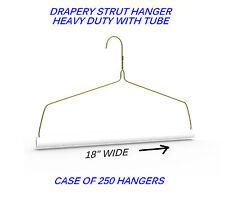 CASE 200 Heavy Duty Hangers Ideal for Blankets,Drapes DRAPERY STRUTS = WITH TUBE
