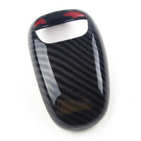 1x Carbon Fiber Style Gear Shift Knob Cover Trim Fit For Grand Cherokee 2014-15