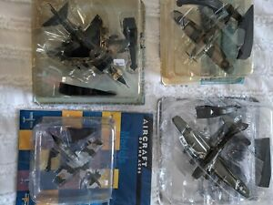 Diecast aircraft. 5 planes in total (4 military and 1 civil )