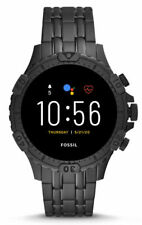 Fossil Garrett HR Gen 5 46mm Stainless Steel Smart Watch, Black (FTW4038)