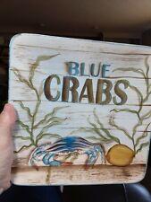 Blue crabs Kate McRostie ceramic plate