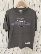 COLORADO ROCKIES MAJESTIC Authentic Collection T Shirt Gray Large U2