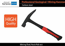 Professional Carbon steel Geological hammer Flat claw Mining Tool Rock Pick