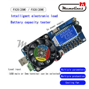 35W LED Electronic Load USB Power Detector Adjustable Resistor Capacity Tester