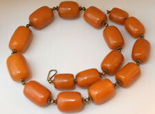 Large Antique Natural Untreated Baltic Butterscotch Amber Necklace 153 Grams