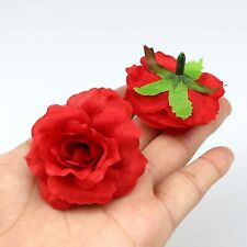 20Pcs Artificial Silk Small Red Rose Fake Flower Heads Lot Craft Wedding Decor
