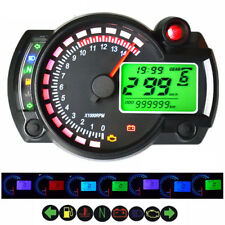 Universal 7 Color ATV Motorcycle Digital Speedometer Analog 14000RPM Tachometer