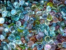 10 LBS PASTEL  FLAT GLASS  MARBLES GEMS, VASE FLLERS, FISH TANK,MOSAIC, $21.99
