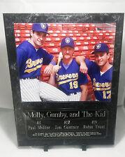 Paul Molitor, Robin Yount, Jim Gantner Milwaukee Brewers Plaque Deluxe Style