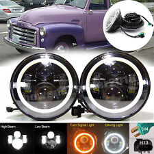 7'' Inch LED Headlight DRL Light H4 H13 Adapter For CHEVY GMC PICKUP TRUCK 2Pcs