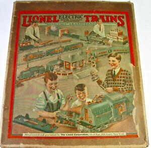 296 SET BOX ONLY  FROM 1929  LIONEL PREWAR O GAUGE TRAIN