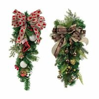 Christmas Wreath Decor For Xmas Holiday Party Door Wall Garland Flower Ornaments