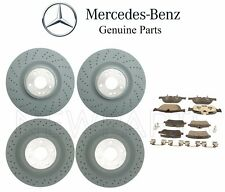 For Mercedes X166 GL450 GL550 Front & Rear Brake Disc Rotors w/ Pads Genuine Kit