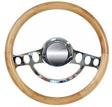 Real Alder Hot Rod Steering Wheel for Flaming River, Ididit, GM Column 9 Hole