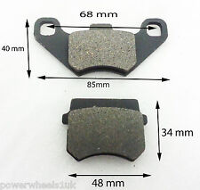 BP001 SET OF BRAKE PADS APACHE BASHAN QUAD ATV DIRT BIKE SHOES 110cc 125cc 200cc