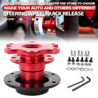 Universal Steering Wheel Quick Release HUB Racing Adapter Snap Off Boss Red Kit