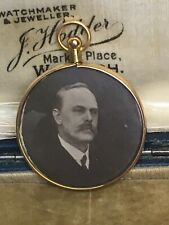ANTIQUE EDWARDIAN 9ct GOLD PHOTO LOCKET, PENDANT, FOB