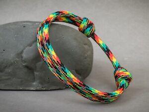 JAMAICAN Flag / Rasta / Reggae / Bob Marley - ADJUSTABLE 550 Paracord Bracelet