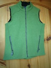 Ibex women's small lime-green thick wool vest in Euc
