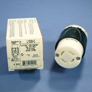 Pass & Seymour Twist Turnlok Locking Connector NEMA L15-20R 20A 250V 3� L1520-C