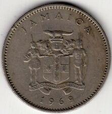 1969 JAMAICA 10 TEN CENTS  NICE WORLD COIN