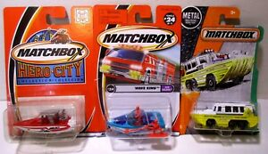 1:64 Matchbox Diecast Rescue Speed Police Boats Amphibian Yacht Ship Toy Lot #6