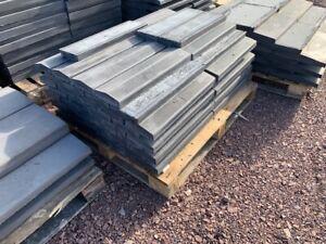 Concrete Coping Stones - 40nr - Dark Grey - 175 x 600mm - Twice Weathered